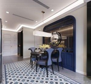 thiết kế nội thất phong cách đông dương - phòng ăn