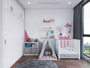 thi công nội thất phòng em bé