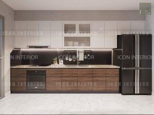 thiết kế nội thất park 5 vinhomes central park - nhà bếp