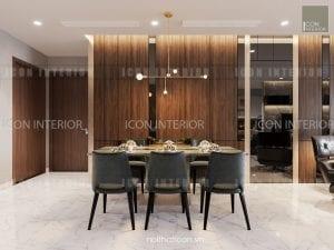 thiết kế nội thất park 5 vinhomes central park phòng khách bếp