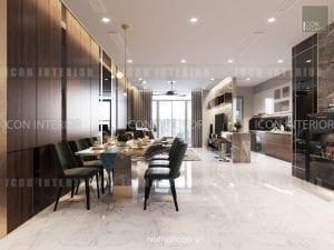 thiết kế nội thất park 5 vinhomes central park - phòng ăn
