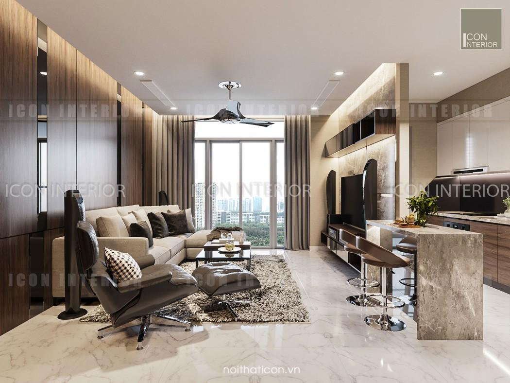 thiết kế nội thất park 5 vinhomes central park - phòng khách