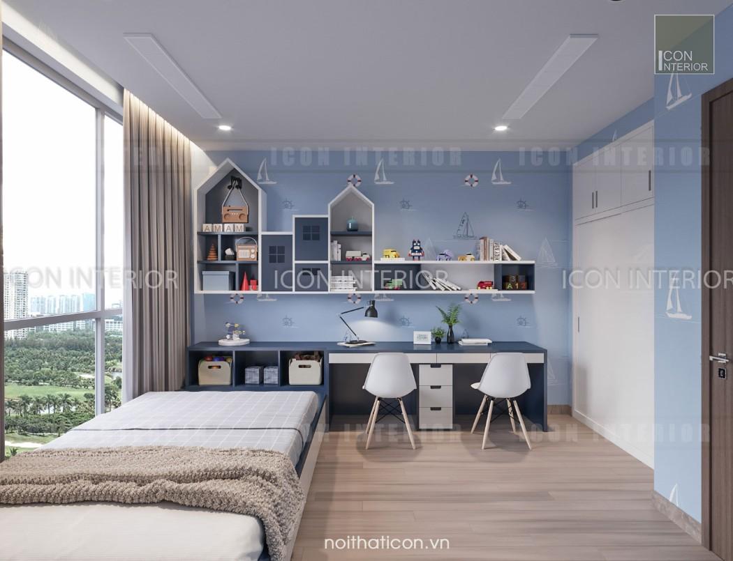 thiết kế nội thất park 5 vinhomes central park - phòng ngủ trẻ em