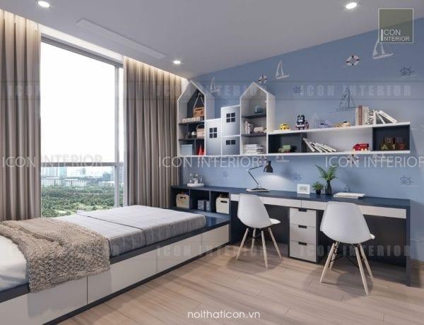 thiết kế nội thất park 5 vinhomes central park - phòng ngủ bé