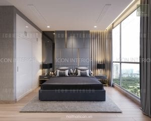 thiết kế nội thất park 5 vinhomes central park phòng ngủ master