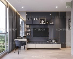 thiết kế nội thất park 5 vinhomes central park phòng master