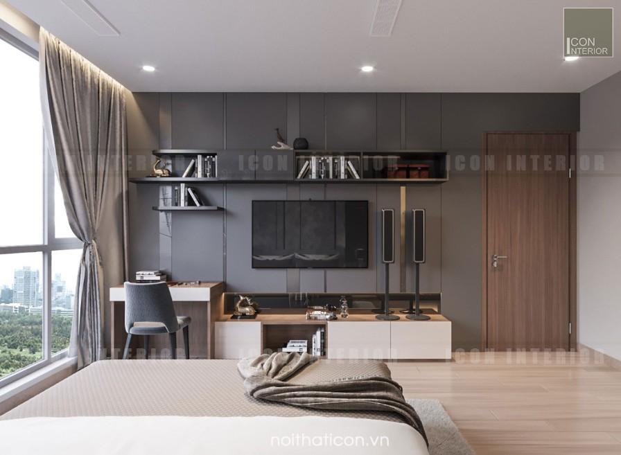 thiết kế nội thất park 5 vinhomes central park - phòng ngủ nhỏ