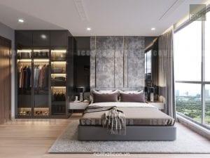 thiết kế nội thất park 5 vinhomes central park phòng ngủ