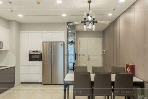 thi công nội thất vinhomes ba son - nhà bếp