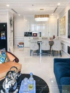 thi công nội thất vinhomes - phòng khách