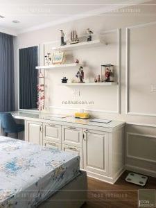 thi công nội thất vinhomes - bần trang điểm phòng master