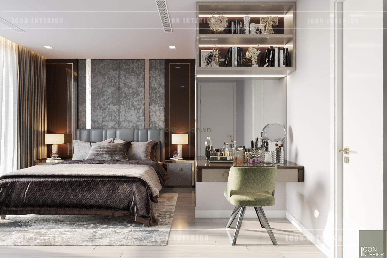thiết kế nội thất chung cư 3 phòng ngủ - phòng master
