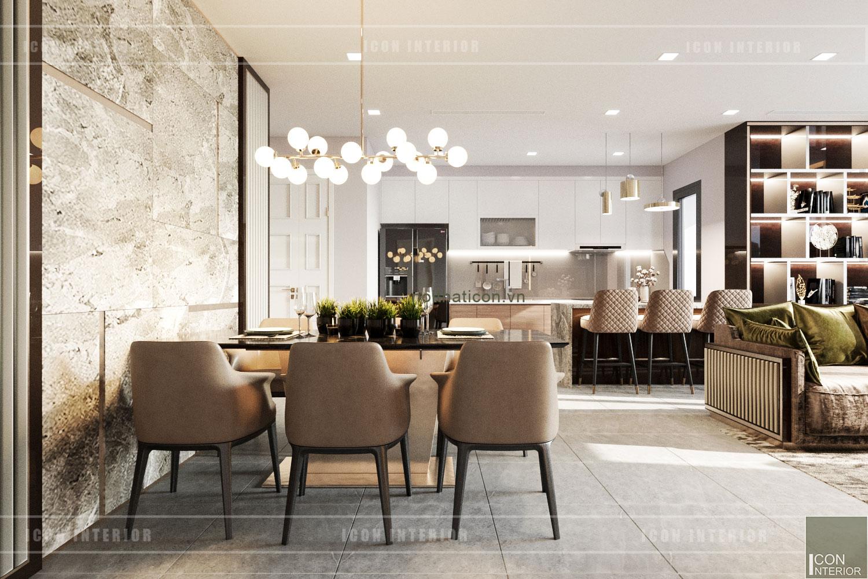 thiết kế nội thất chung cư 3 phòng ngủ phòng ăn