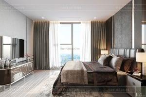 thiết kế nội thất chung cư 3 phòng ngủ phòng master