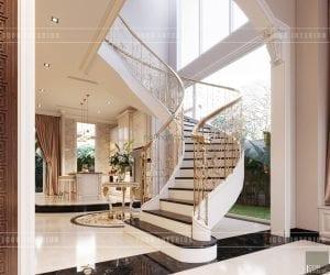 thiết kế nội thất biệt thự tân cổ điển - cầu thang