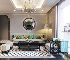 Thiết kế chung cư phong cách Đông Dương