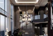 thiết kế nội thất penhouse - phòng khách