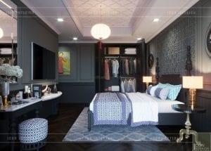 thiết kế nội thất penthouse phòng master