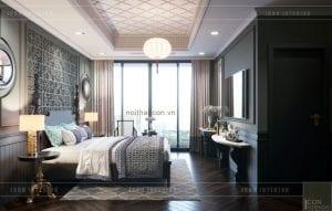 thiết kế nội thất penthouse - phòng ngủ