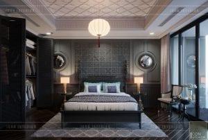 thiết kế nội thất penthouse - phòng master