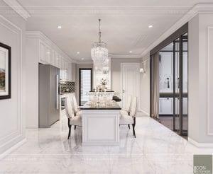 thiết kế căn hộ landmark 2 vinhomes central park phòng ăn