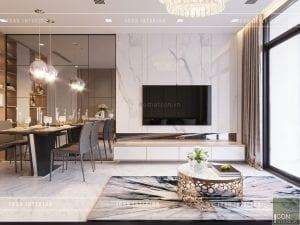 thiết kế căn hộ 1 phòng ngủ 5