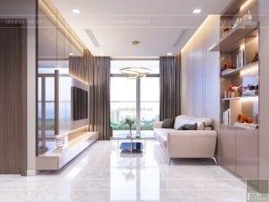 thiết kế căn hộ 2 phòng ngủ park 6 - phòng khách bếp 2