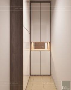thiết kế căn hộ 2 phòng ngủ park 6 - tiền sảnh