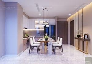 thiết kế căn hộ 2 phòng ngủ park 6 - phòng khách bếp 5