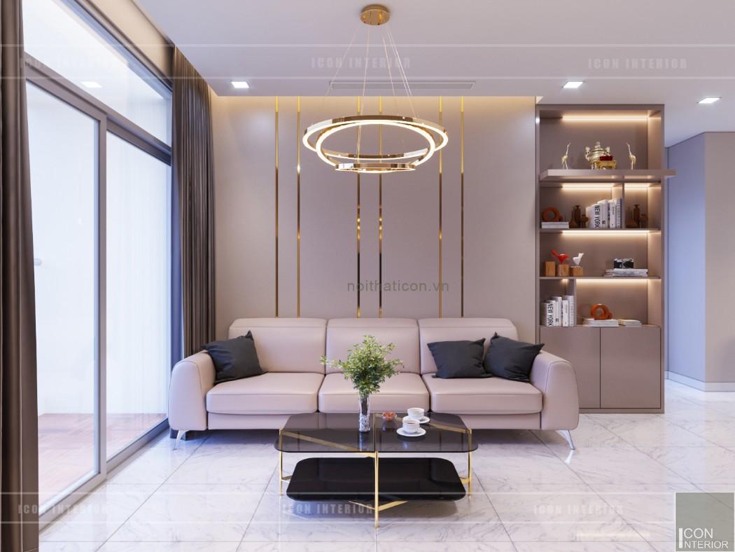 thiết kế căn hộ 2 phòng ngủ park 6 - phòng khách bếp 4