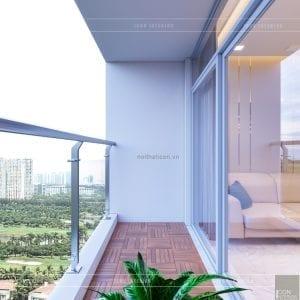 thiết kế căn hộ 2 phòng ngủ park 6 - ban công