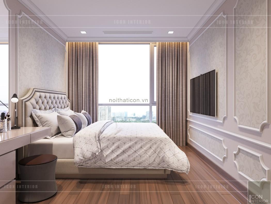 thiết kế căn hộ 2 phòng ngủ park 6 - phòng ngủ 1