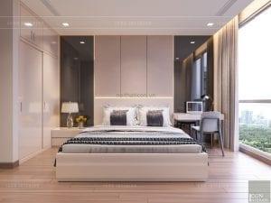 thiết kế căn hộ 2 phòng ngủ park 6 - phòng ngủ master 2