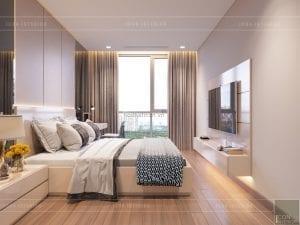 thiết kế căn hộ 2 phòng ngủ park 6 - phòng ngủ master 1