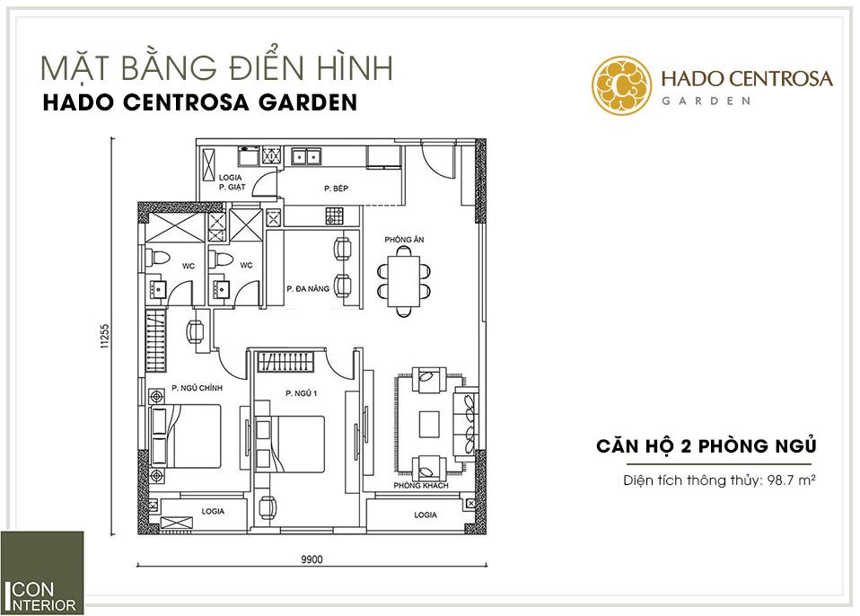 mặt bằng căn hộ hado centrosa