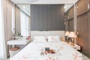 thi công căn hộ 1 phòng ngủ - phòng ngủ hiện đại