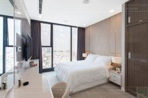 thi công nội thất hiện đại - phòng ngủ master 1