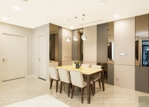 thi công nội thất hiện đại - phòng khách bếp 6