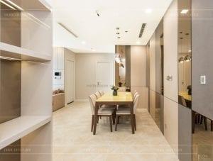 thi công nội thất hiện đại - phòng khách bếp 1
