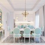 thiết kế nội thất biệt thự song lập - phòng ăn