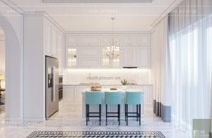 thiết kế nội thất biệt thự song lập - nhà bếp