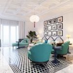 thiết kế nội thất biệt thự song lập phong cách đông dương - phòng khách