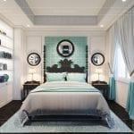 thiết kế nội thất biệt thự song lập phong cách đông dương - phòng ngủ master