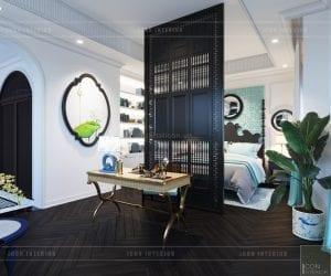 thiết kế nội thất biệt thự song lập - phòng master