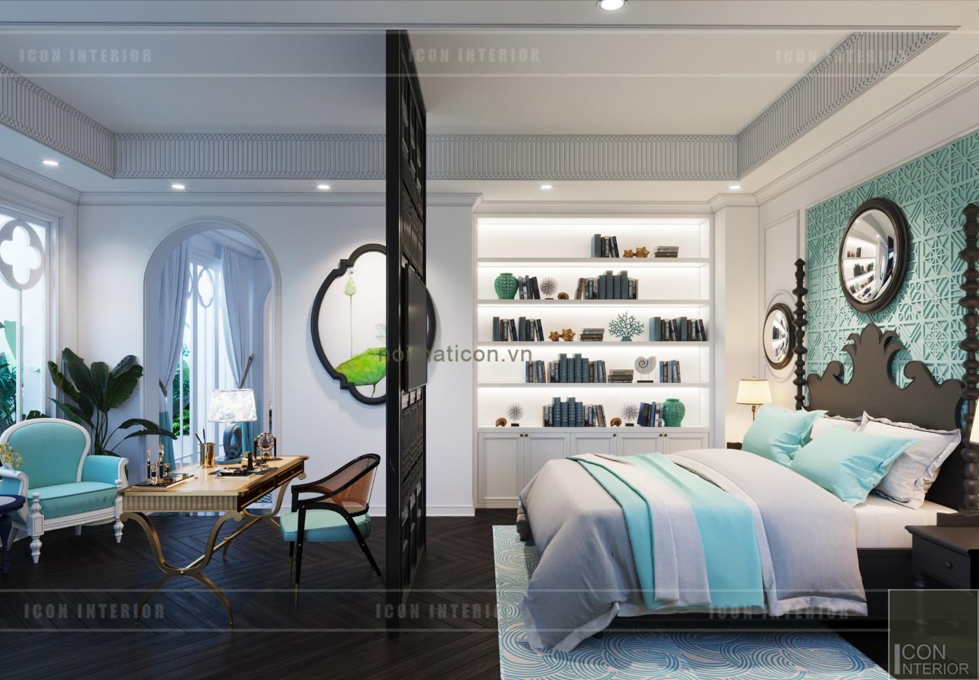 vách phân chia phòng ngủ