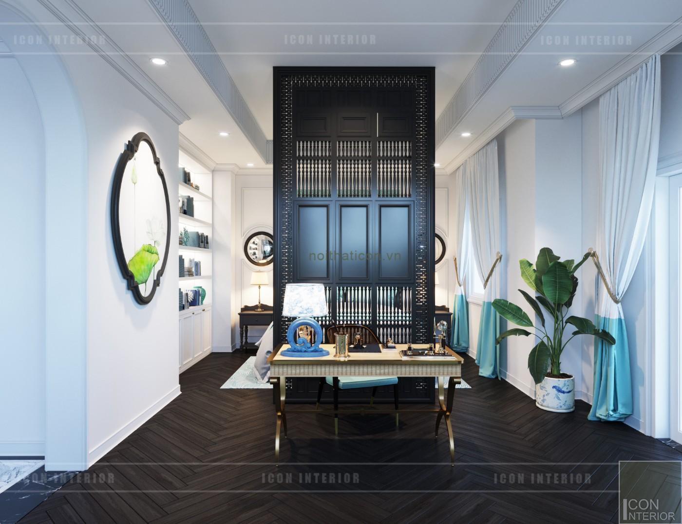 thiết kế nội thất biệt thự song lập phòng master