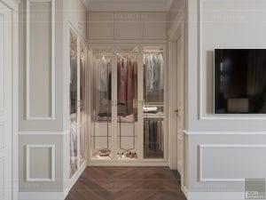 thiết kế biệt thự tân cổ điển - tủ quần áo