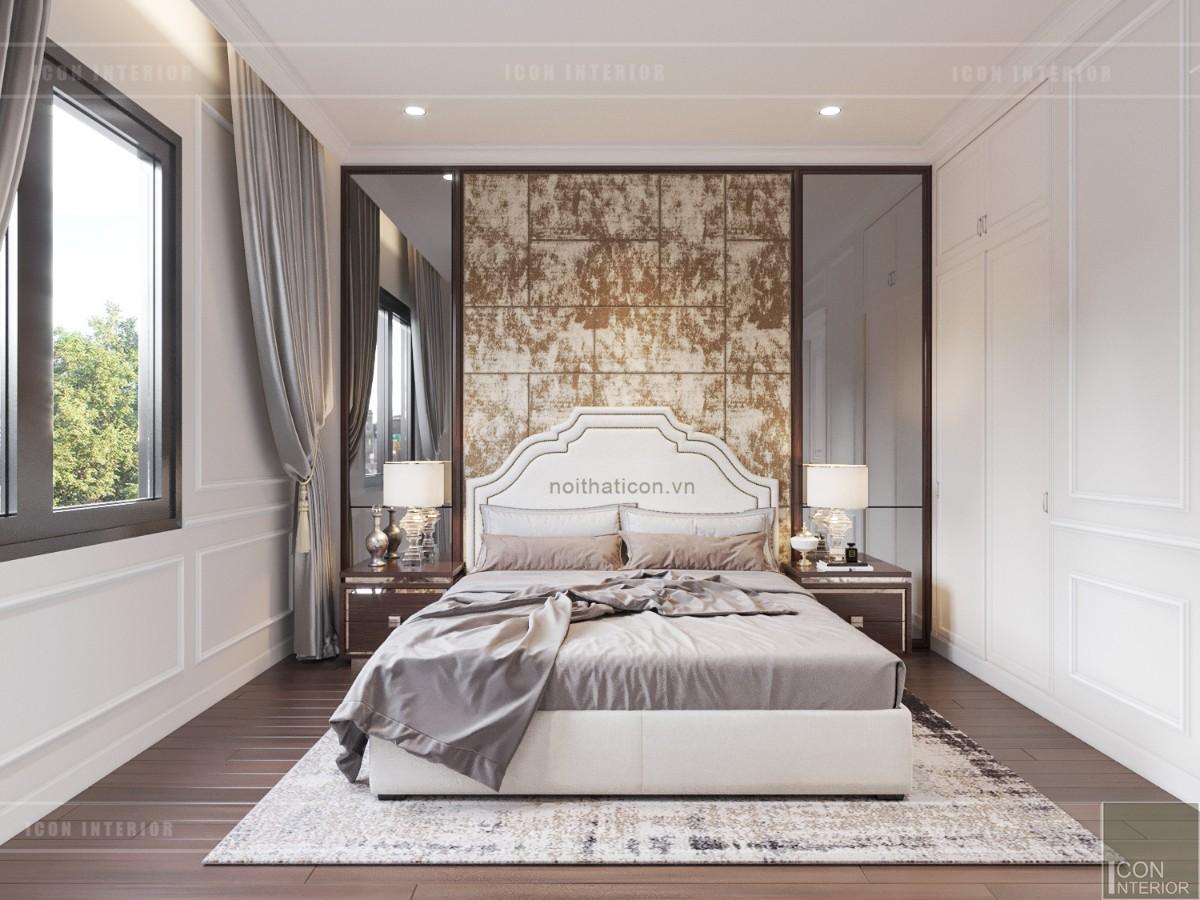 thiết kế biệt thự tân cổ điển - tầng 2 phòng ngủ 2