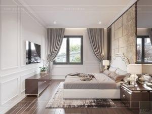 thiết kế biệt thự tân cổ điển - phòng ngủ 2