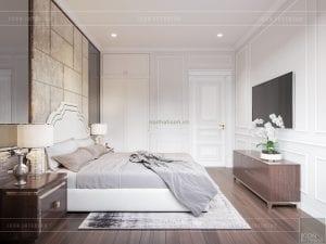 thiết kế biệt thự tân cổ điển phòng ngủ 2 tầng 2